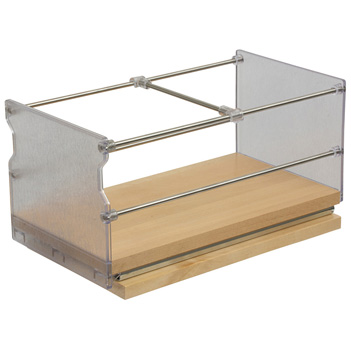 """Hafele Individual Pull-Out Spice Rack, Birch and Stainless Steel, 5-7/8"""" W x 5-3/4"""" D x 5-3/4"""" H"""