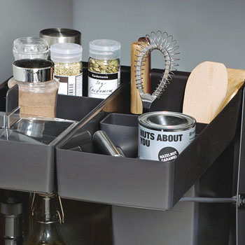 """Hafele Kitchen Tower 450 Base Unit Pull-Out, Silver, Steel/Plastic, for 18"""" Frameless Cabinets"""