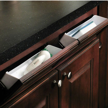 Hafele Sink Front Tip Out Tray Set For Kitchen Or Vanity Sink Cabinet Kitchensource Com