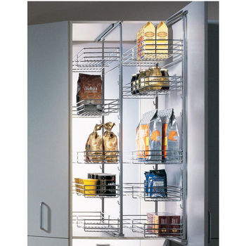 Tall Pull Out Pantry Cabinet With Hafele Pantry PullOut Systems  KitchenSource.com With Kitchen Cabinets