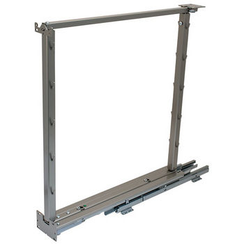 "Hafele Kessebohmer Base Pull-Out II Frame Set, for Overlay and Inset Doors, 3-3/4""W x 21-3/8""D x 26-3/8"" - 32""H, Steel, Champagne"