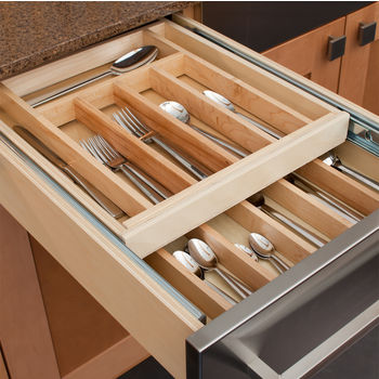 Hafele Wooden Double Cutlery Kitchen Drawer Kitchensource Com