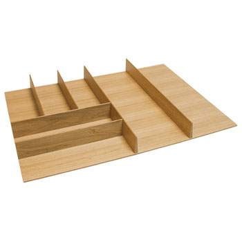 "Hafele ""Fineline"" Small Cutlery Tray, White Oak, 21-9/16""W x 20-13/16""D x 1-15/16""H"