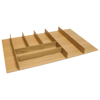 "Hafele ""Fineline"" Large Cutlery Tray, White Oak, 27-5/8""W x 20-13/16""D x 1-15/16""H"