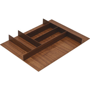 "Hafele ""Fineline"" Small Cutlery Tray, Walnut, 15-9/16""W x 20-13/16""D x 1-15/16""H"