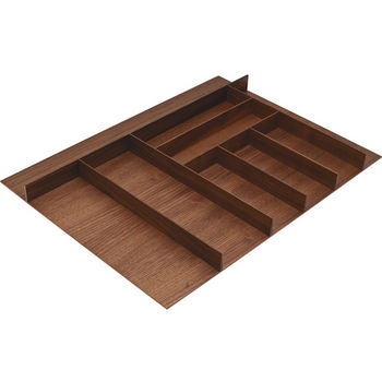 "Hafele ""Fineline"" Large Cutlery Tray, Walnut, 27-5/8""W x 20-13/16""D x 1-15/16""H"