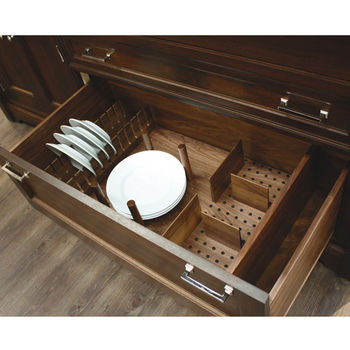 Hafele \ Fineline\  Plate Rack Walnut 18-13/16\ W x 1/2\ D x 4-3/4\ H  sc 1 st  KitchenSource.com & Deep Drawer Inserts \u0026 Peg Systems: An Easy Way to Keep Bowls and ...