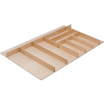 "Hafele ""Fineline"" Large Cutlery Tray, Birch, 33-9/16""W x 20-13/16""D x 1-15/16""H"
