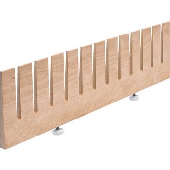"Hafele ""Fineline"" Plate Rack, Birch, 18-13/16""W x 1/2""D x 4-3/4""H"