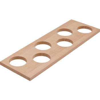"Hafele ""Fineline"" Container Holder with 6 Holes, Birch, 16-11/16""W x 5-7/16""D x 7/16""H"