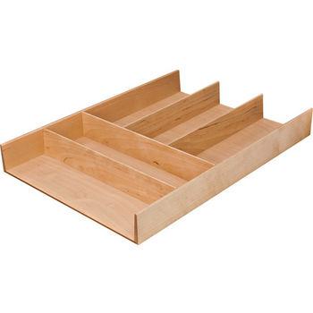 """Hafele """"Fineline"""" Move Kitchen Cutlery Insert, Birch, 11-13/16""""W x 16-11/16""""D x 1-15/16""""H"""