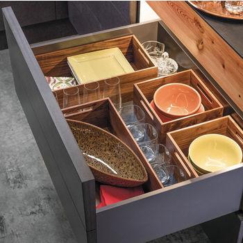"""Hafele """"Fineline"""" Move Kitchen Storage Box 1, Birch, 8-5/16""""W x 16-11/16""""D x 4-3/4""""H"""