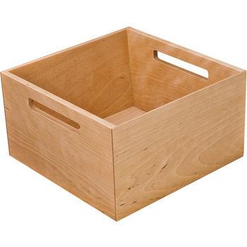 """Hafele """"Fineline"""" Move Kitchen Storage Box 2, Birch, 8-5/16""""W x 8-5/16""""D x 4-3/4""""H"""