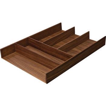 """Hafele """"Fineline"""" Move Kitchen Cutlery Insert, Walnut, 11-13/16""""W x 16-11/16""""D x 1-15/16""""H"""