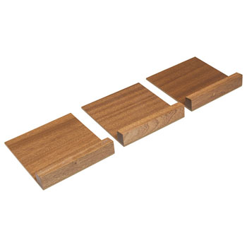 """Hafele """"Fineline"""" Stepped Spice Container Holder, Mahogany, 5-7/16""""W x 16-11/16""""D x 1/2""""H"""