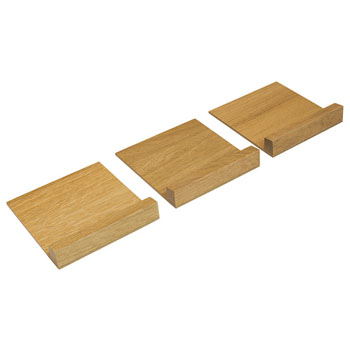 """Hafele """"Fineline"""" Stepped Spice Container Holder, White Oak, 5-7/16""""W x 16-11/16""""D x 1/2""""H"""
