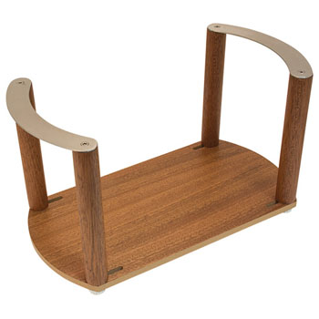 """Hafele """"Fineline"""" Plate Holder, with S/S Handle, Mahogany, 13-3/8"""" W x 7-1/16"""" D x 7 1/16"""" H"""