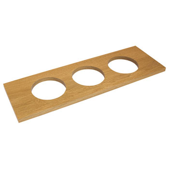 "Hafele ""Fineline"" Large Container Holder, with 3 Holes, White Oak, 22""W x 7 1/16""D x 5/8""H"