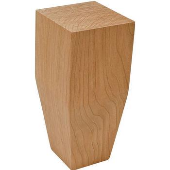 Hafele Square Wood Leg, 2 Sided Taper, Cherry