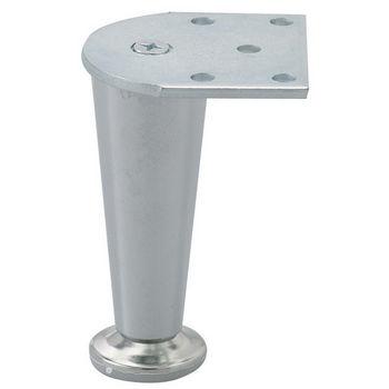 "Hafele Furniture Foot-100, Polished Chrome, 100mm (3-15/16"") H"