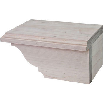 Hafele Traditional Cabinet Foot, Right, Maple
