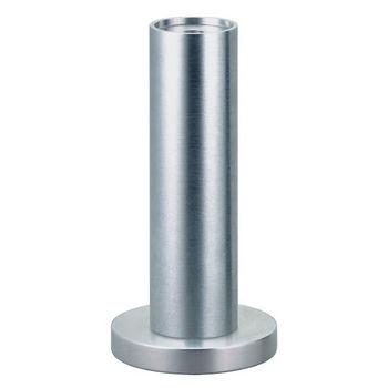 """Hafele Furniture Foot, with M8 Threads, Matt Aluminum, 100mm (3-15/16"""") H"""