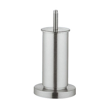 """Hafele Furniture Foot, Height Adjustable with M8 threaded bolt & Straight Base, Brushed Matt, 4""""H"""