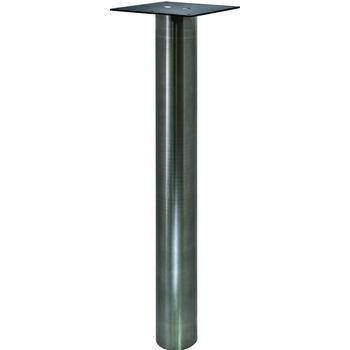 Hafele Round Table Leg, Stainless Steel