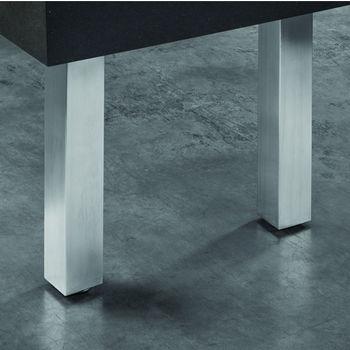 Hafele Mini Square Table Leg, Stainless Steel