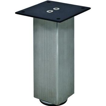"Hafele Mini Square Table Leg, Stainless Steel, 50mm Dia., 152mm H (2"" Dia., 6""H)"