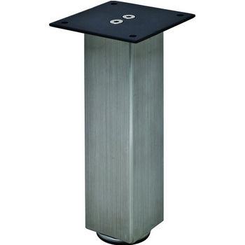 "Hafele Mini Square Table Leg, Stainless Steel, 50mm Dia., 203mm H (2"" Dia., 8""H)"