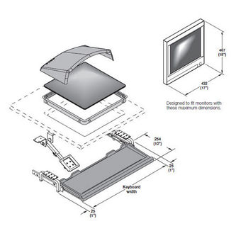 Hafele Monitor Suspension System for Flat Screen Monitors