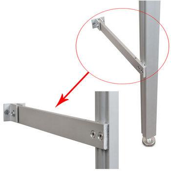 Hafele 21C Sta-Pole System Bottom Tie Bar, Aluminum Matt