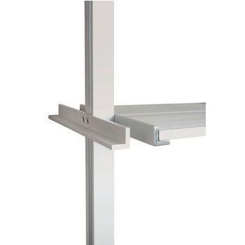 "Hafele 21C Sta-Pole System Shelf Bracket, Aluminum Matt, 9-7/8"""