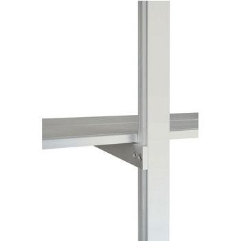 "Hafele 21C Sta-Pole System Rear Continuous Shelf Bracket, Aluminum Matt, 11-1/8"""