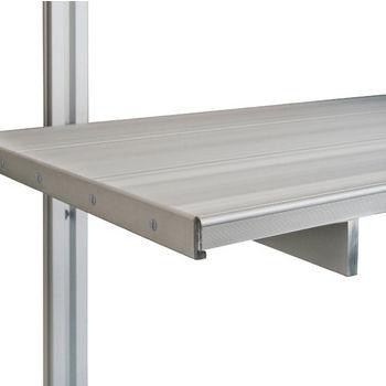 """Hafele 21C Wall and Sta-Pole System Shelf End Cap, Aluminum Matt, 10"""" Deep"""