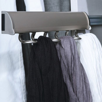 "Hafele ""Synergy Elite"" Collection Telescopic Scarf Rack for Wardrobe or Closet"