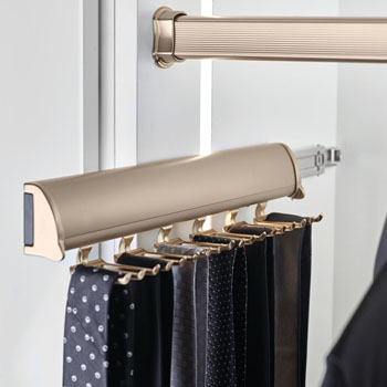 "Hafele ""Synergy Elite"" Collection Telescopic Tie Rack"
