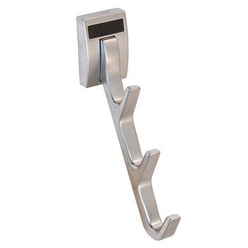 "Hafele ""Synergy Elite"" Collection Cleat Mount Waterfall Hook, Matt Aluminum, 1/2""W x 3-3/4""D x 6-1/2""H"