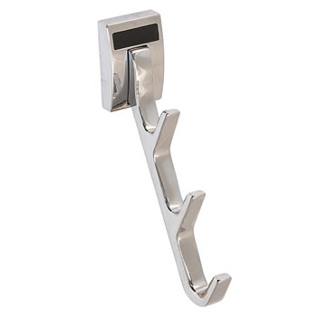 "Hafele ""Synergy Elite"" Collection Cleat Mount Waterfall Hook, Polished Chrome, 1/2""W x 3-3/4""D x 6-1/2""H"