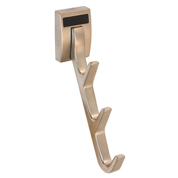 "Hafele ""Synergy Elite"" Collection Cleat Mount Waterfall Hook, Matt Nickel, 1/2""W x 3-3/4""D x 6-1/2""H"