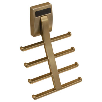 "Hafele ""Synergy Elite"" Collection Tie Hook for 8 Ties, Matt Gold"