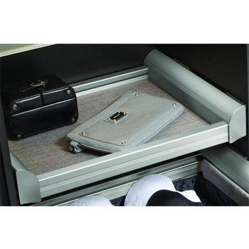 Hafele Engage Pull-Out Shelf, Matt Nickel Frame with Slate Fabric
