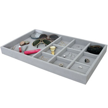 Hafele Jewelry Tray, Nylon, Felt, Gray