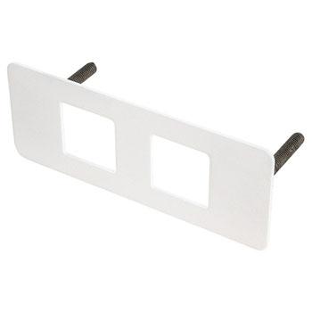 Hafele Dock 1100 Flush Mount Cover Plate, Steel, White
