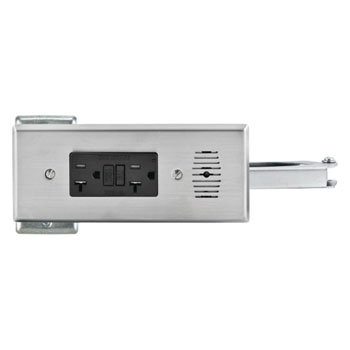 Hafele Docking Drawer Style, with 2 AC 20 Amp Outlets, with Thermostat Shut-Off, Stainless Steel