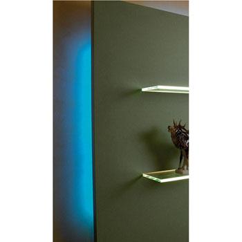 "Hafele LOOX 12V #2042 Flexible LED Strip Light with 300 LEDs, Blue, 5m (196-7/8"") Length"