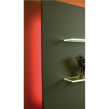 "Hafele LOOX 12V #2042 Flexible LED Strip Light with 300 LEDs, Red, 5m (196-7/8"") Length"