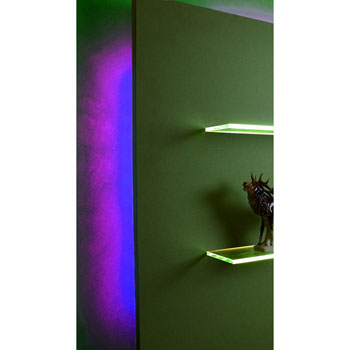 "Hafele LOOX 12V #2042 Flexible LED Strip Light with 300 LEDs, Purple, 5m (196-7/8"") Length"