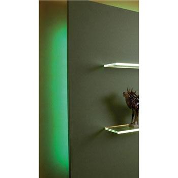 "Hafele LOOX 12V #2042 Flexible LED Strip Light with 300 LEDs, Green, 5m (196-7/8"") Length"